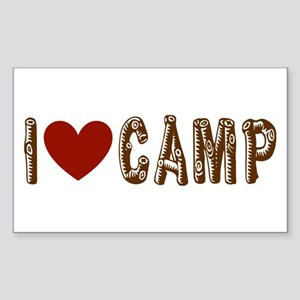 I heart camp Sticker (Rectangle)