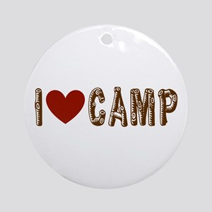 I heart camp Ornament (Round)