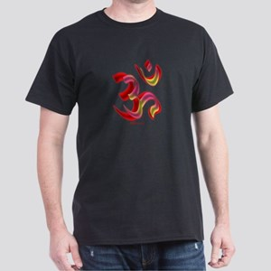 Aum/Ohm Face Yoga/Meditation Black T-Shirt