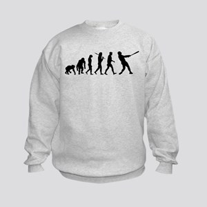 Evolution of Baseball Kids Sweatshirt
