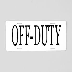 Off-Duty Aluminum License Plate