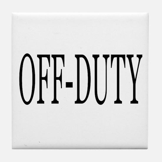 Off-Duty Tile Coaster
