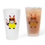 Evil Candy Corn Drinking Glass