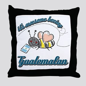 Awesome Being Guatemalan Throw Pillow