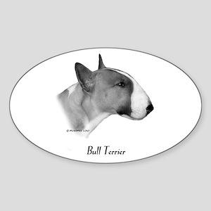 Coloured Bull Terrier Sticker (Oval)