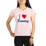 I Heart Running Women's double dry short sleeve me