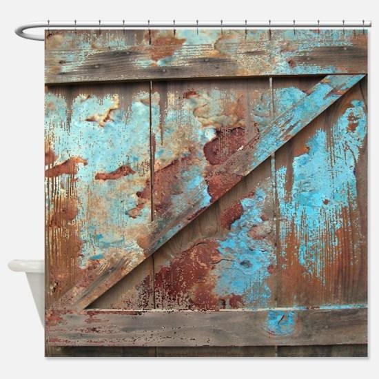 Cute Rust Shower Curtain
