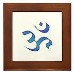 Aum/Ohm Face Meditation/Yoga Framed Tile