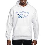 Aum/Ohm Face Meditation/Yoga Hooded Sweatshirt