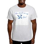 Aum/Ohm Face Meditation/Yoga Ash Grey T-Shirt
