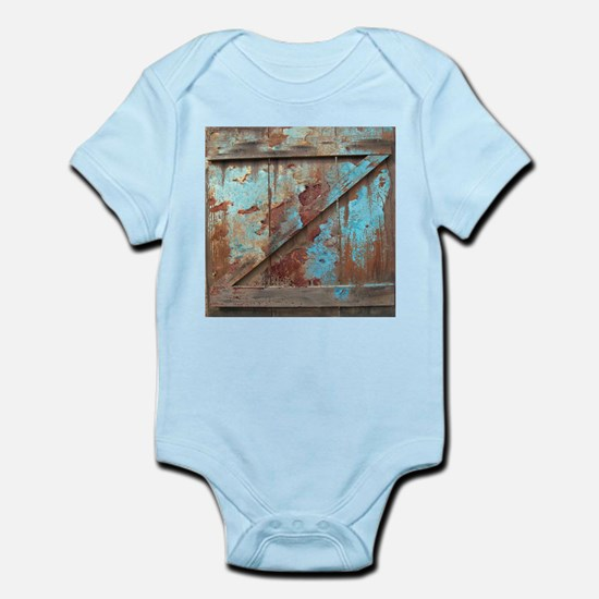 distressed turquoise barn wood Body Suit