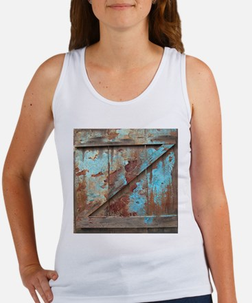 distressed turquoise barn wood Tank Top
