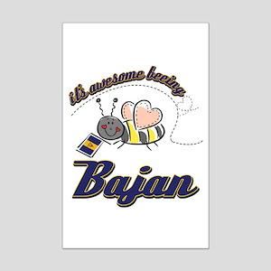 Awesome Being Bajan Mini Poster Print