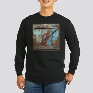 distressed turquoise barn wood Long Sleeve T-Shirt