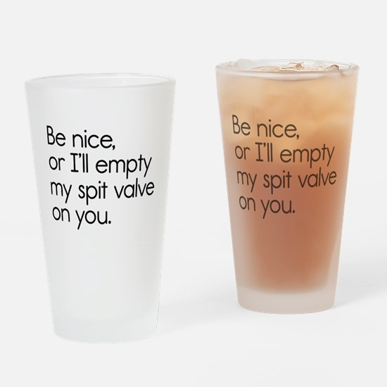 Spit Valve Drinking Glass
