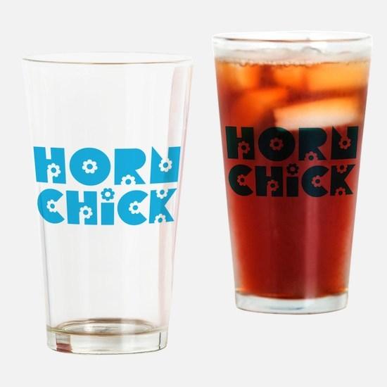 Horn Chick Pint Glass