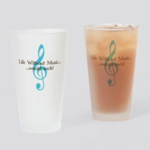 Life Without Music Pint Glass