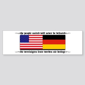 USA - Germany Bumper Sticker