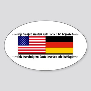 USA - Germany Oval Sticker