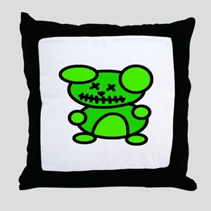 Undead Teddy Throw Pillow