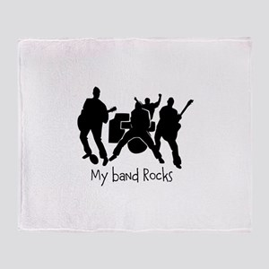 My band rocks Throw Blanket