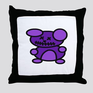 Zombie Teddy Bear Throw Pillow