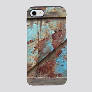 distressed turquoise barn wood iPhone 7 Tough Case