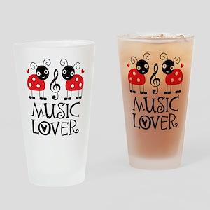 Music Lover Ladybug Pint Glass