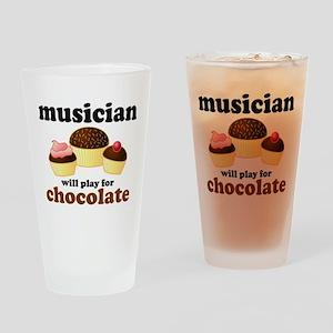 Musician Chocolate Slogan Pint Glass