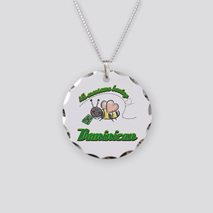 Awesome Being Dominican Necklace Circle Charm
