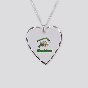 Awesome Being Dominican Necklace Heart Charm
