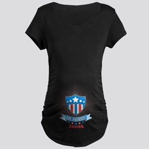 Lil' Patriot Inside Maternity Dark T-Shirt