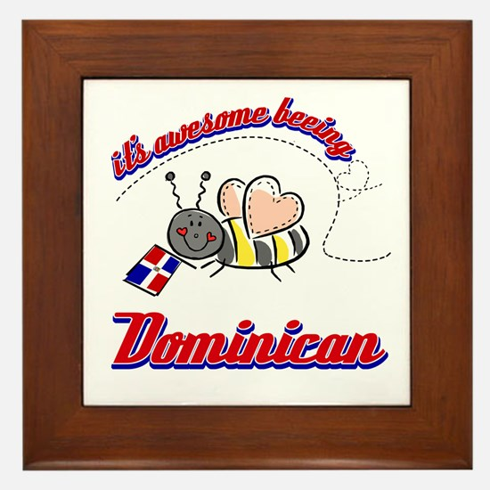 Awesome Being Dominican Republic Framed Tile