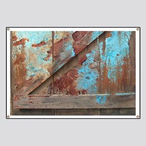 distressed turquoise barn wood Banner