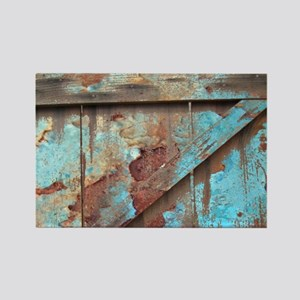 distressed turquoise barn wood Magnets