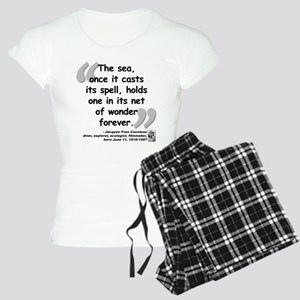 Cousteau Sea Quote Women's Light Pajamas