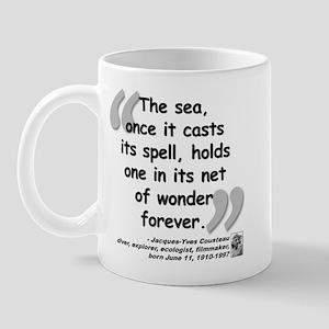 Cousteau Sea Quote Mug