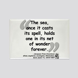 Cousteau Sea Quote Rectangle Magnet