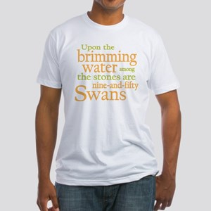Yeats Wild Swans Fitted T-Shirt