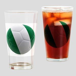 Nigeria World Cup Ball Pint Glass