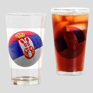 Serbia World Cup Ball Pint Glass