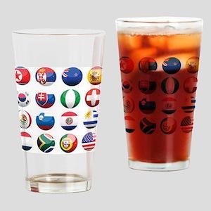 World Cup Soccer Balls Pint Glass