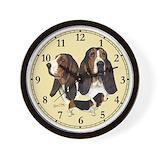Basset hound Wall Clocks