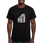 Polar Bear Black Men's Fitted T-Shirt (dark)