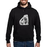Polar Bear Black Hoodie (dark)