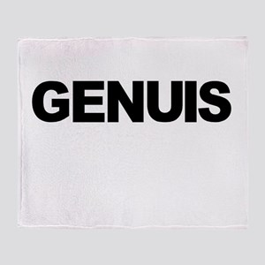 Genuis Shirt Throw Blanket