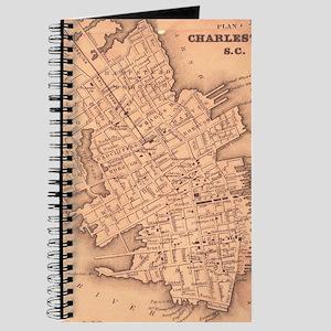 Vintage Map of Charleston South Carolina ( Journal
