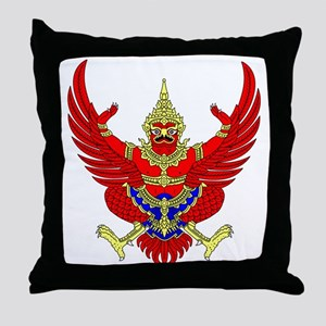 Thai Garuda Symbol Throw Pillow