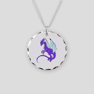 Dragon Necklace Circle Charm