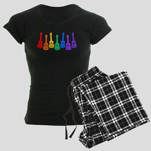 Ukulele Rainbow - Black/Dark Women's Dark Pajamas